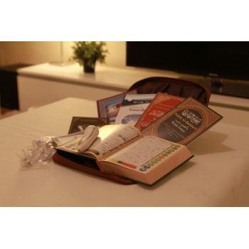 Stylo Coran Tajwid - Saccoche Cuir - Coran Grand Format avec Tajweed