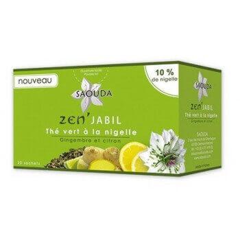 Thé Vert à la Graine de Nigelle - ZEN'JABIL - Saouda Nigelle Sativa