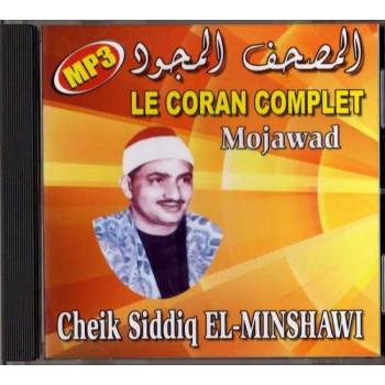 CD MP3 - Le Coran Complet Mojawad - Cheikh Siddiq El-Minshawi - CD 315