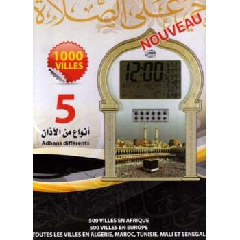 Horloge avec les Horaires des Prières (1000 Villes + 5 Adhans différents + Rokya)