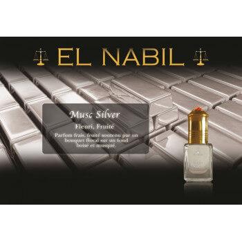 Musc Silver 5 ml - Saudi Perfumes - Sans Alcool - El Nabil