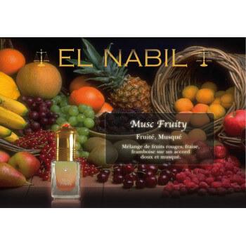 El Nabil - Musc Fruity 5 ml - Saudi Perfumes - Sans Alcool
