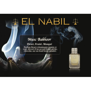 El Nabil - Musc Bakhoor 5 ml - Saudi Perfumes - Sans Alcool