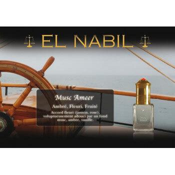 El Nabil - Musc Ameer 5 ml - Saudi Perfumes - Sans Alcool