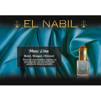 El Nabil - Musc Lina 5 ml - Saudi Perfumes - Sans Alcool