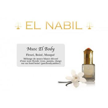 Musc El Body 5 ml - Saudi Perfumes - Sans Alcool - El Nabil