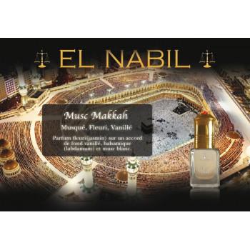 El Nabil - Musc Makkah 5 ml - Saudi Perfumes - Sans Alcool