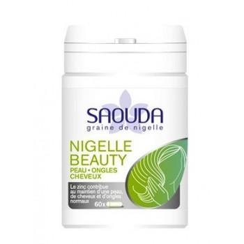 Nigelle Beauty - Peau, Ongles, Cheveux - Gélule de Poudre de Nigelle obtenue par Cryobroyage - 60 Gélules - Saouda