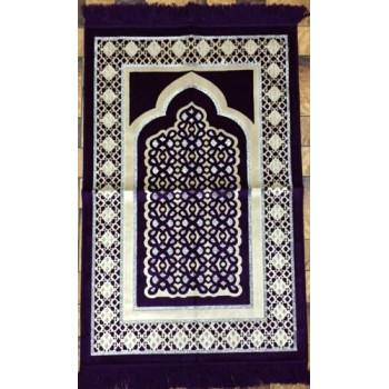 Tapis de Prière de Luxe Prune - Adulte - 73 x110 cm