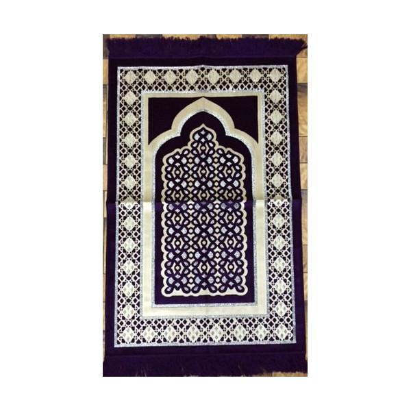tapis de pri re de luxe prune tpl1 al hidayah. Black Bedroom Furniture Sets. Home Design Ideas