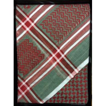 Keffieh vert et rouge Al Shams - n°15