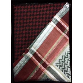 Keffieh rouge et blanc Al Shams - n°9
