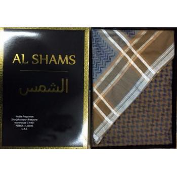 Keffieh bleu et marron Al Shams - n°10