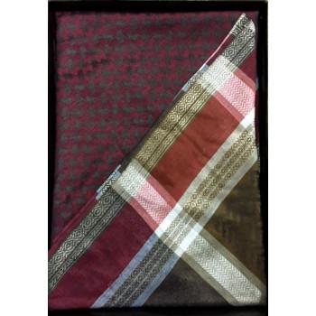 Keffieh Al Shams : rouge et vert - n°12