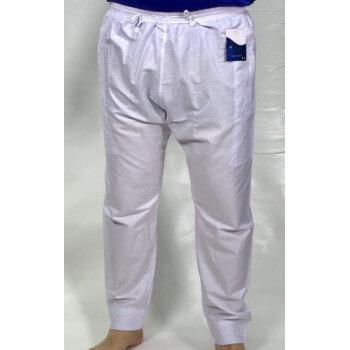 Pantalon Afaq - Sirwal Blanc - Tissu Coton - Coupe Droite - 2634