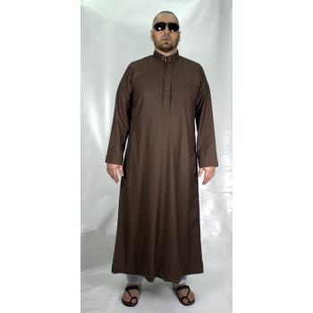 Qamis Marron Afaq - Style Haramain ou Daffah - 2727