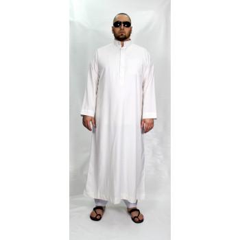 Qamis Blanc Afaq - Style Haramain ou Daffah - 2729