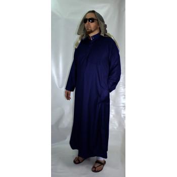Qamis Bleu Foncé Afaq - Style Haramain ou Daffah - 2731