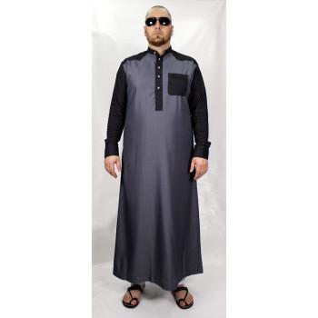 Qamis Daffah gris foncé Afaq