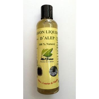 Savon Liquide d'Alep à la Nigelle - 100% Naturel - Olive, Laurier et Nigelle - 250 ml