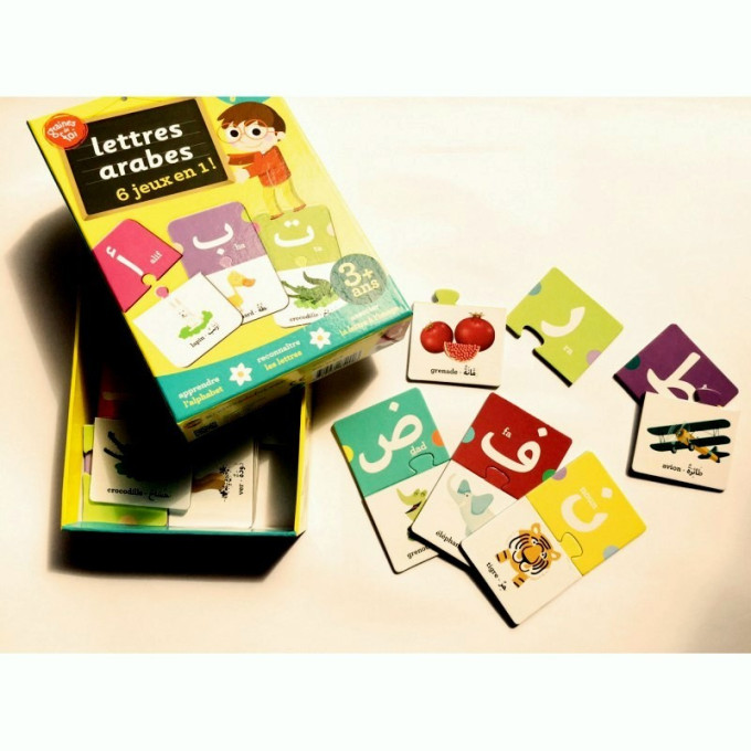 Lettres Arabes, 6 jeux en 1 . A partir de 3 ans