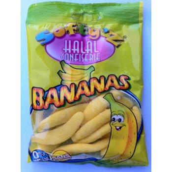 Bonbons Bananas - Softy'Z - Halal - Sachet 100gr