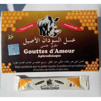 Miel Gouttes d'Amour APHRODISIAQUE 100% Naturelle pour Homme - Stick 10 gr pour une Utilisation