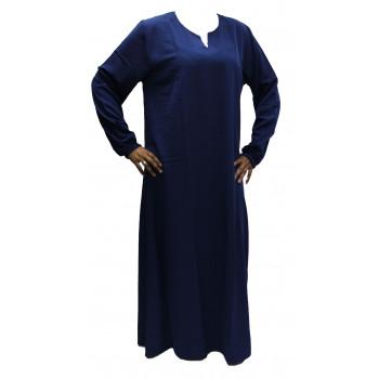 Robe El Bassira - Modèle He - Tissus Koshibo n°26 - Couleur Unis - Bleu Roi - HE26K