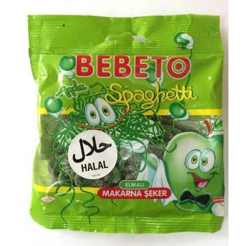 Bonbons Spaghetti à la Pomme - Végétarien - Bebeto - Halal - Sachet 80gr