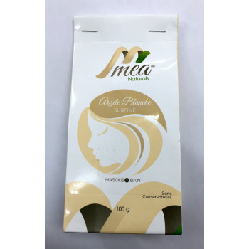 Argile Blanche - Surfine - Masque et Bain - 100 gr - Méa Naturals