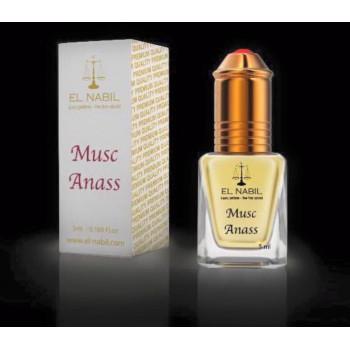 El Nabil - Musc Anass 5 ml - Saudi Perfumes - Sans Alcool