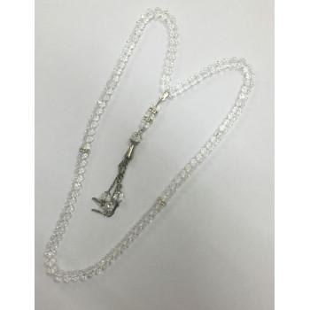 Chapelet 99 Perles Cristal - Blanc