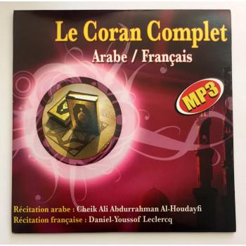 CD MP3 - Le Saint Coran Complet - Arabe/Français - Récité par Cheikh Al Houdayfi et Traduction de Youssof Leclercq - 3632