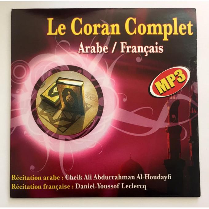MP3 - Le Saint Coran en Arabe/Français - Récité par Cheikh Al Houdayfi et Traduction de Youssof Leclercq