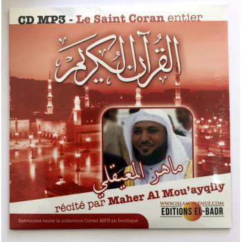 CD MP3 - Le Saint Coran Complet - Arabe - Récité par Cheikh Maher Al Mou'ayqily - Maher Ma'aqli