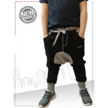 Sarouel enfant noir gris Na3im