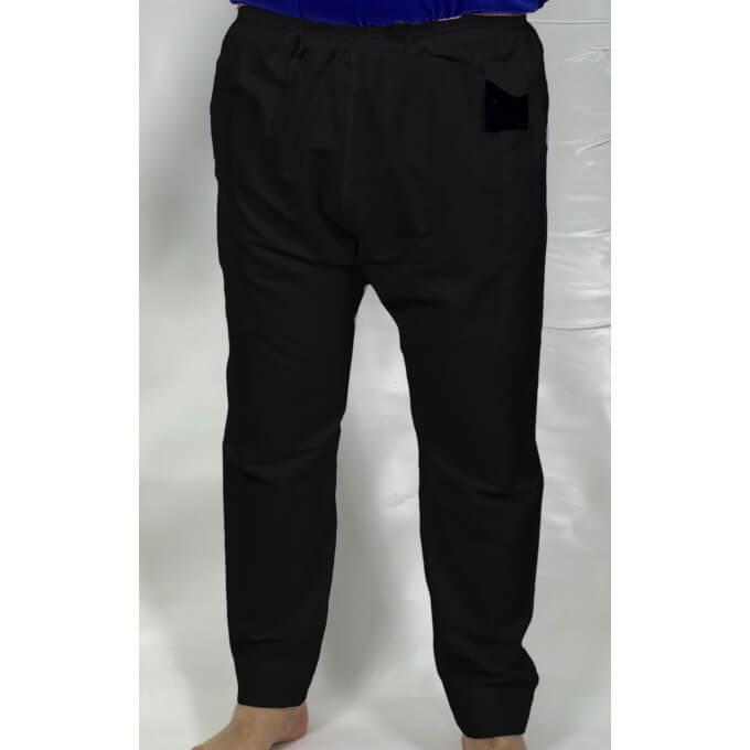 Pantalon Afaq - Sirwal Noir  - Tissu Coton - Coupe Droite