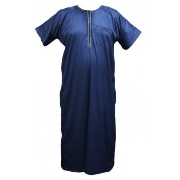 Qamis Al Carpal - Bleu - Manche Courte