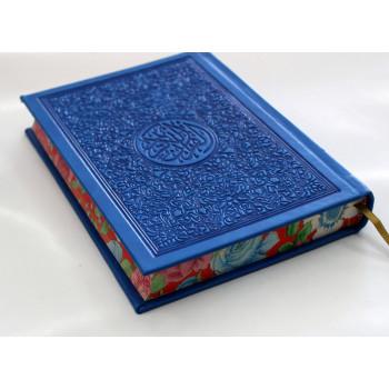 Coran en Daim Bleu - Arabe - Format 14.50 X 20 cm