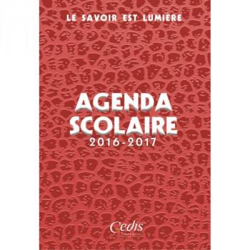 Agenda Scolaire 2016 - 2017 - Rouge - Le Savoir est Lumière - Gedis