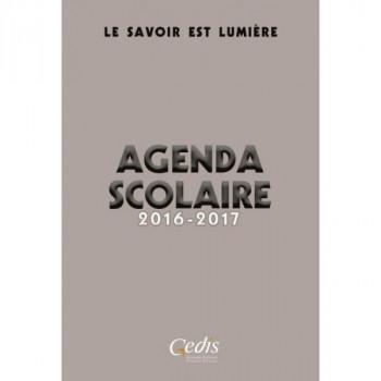 Agenda Scolaire 2016 - 2017 - Gris - Le Savoir est Lumière - Gedis