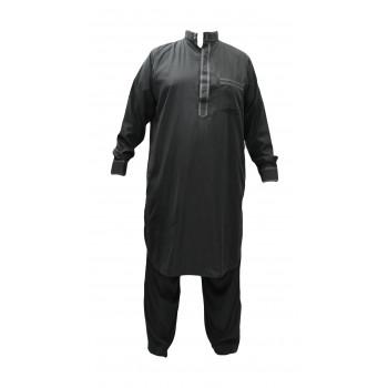 Qamis pakistanais gris Afaq